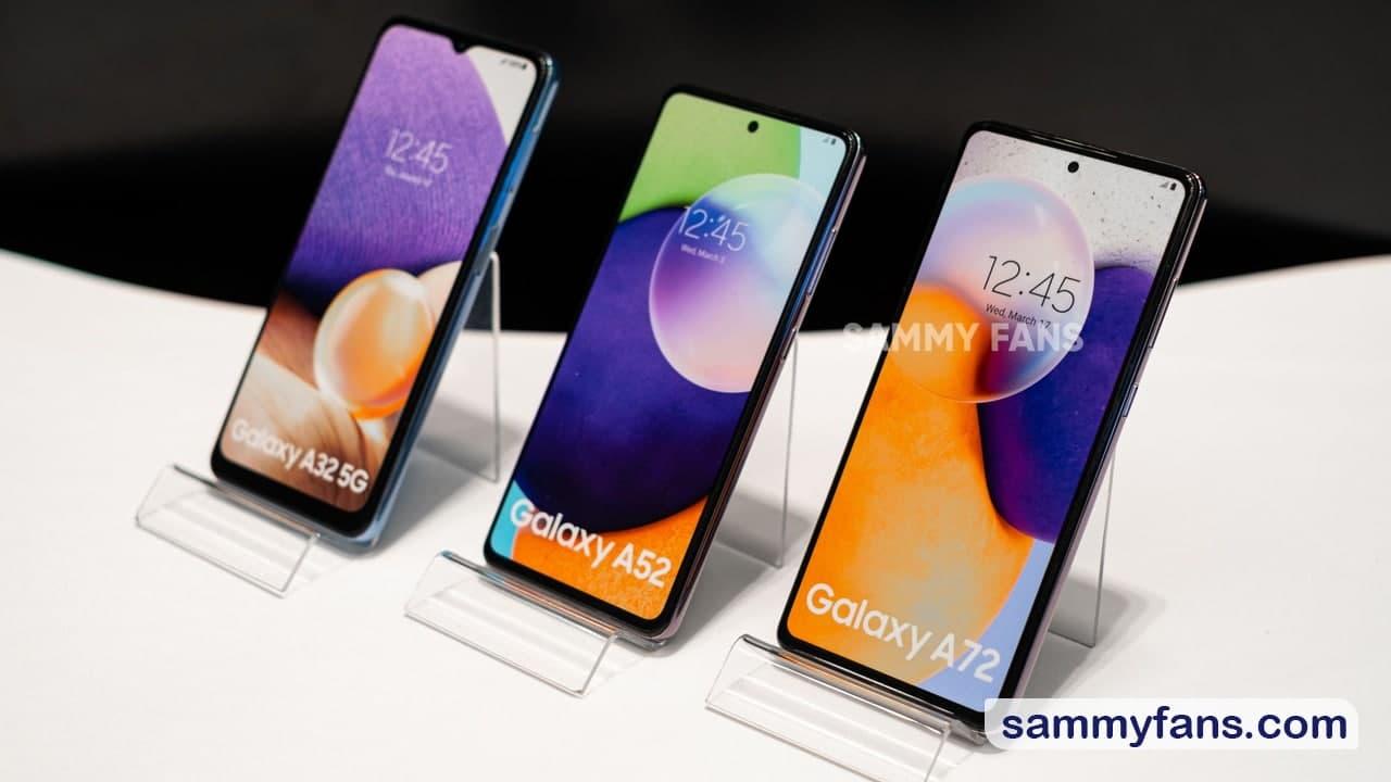 Samsung Galaxy A32, Galaxy A52 and Galaxy A72
