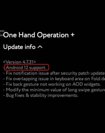 Android 12 Support Good Lock One Hand Operation Plus