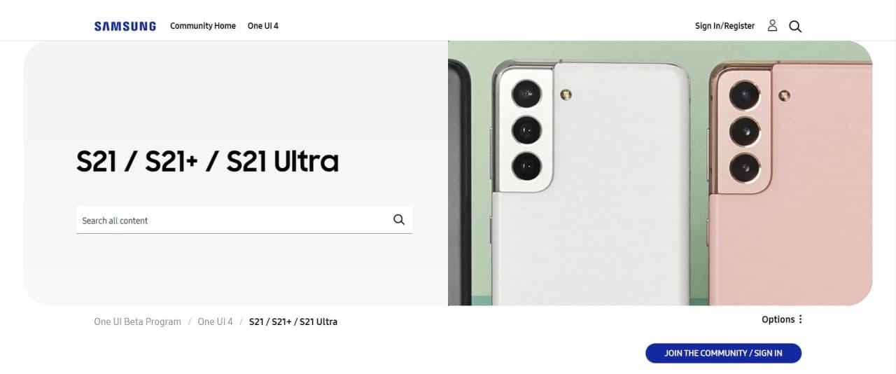 Samsung Galaxy S21 One UI 4