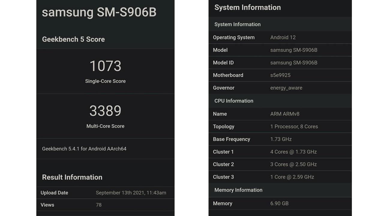 Samsung Galaxy S22 Plus Exynos 2200