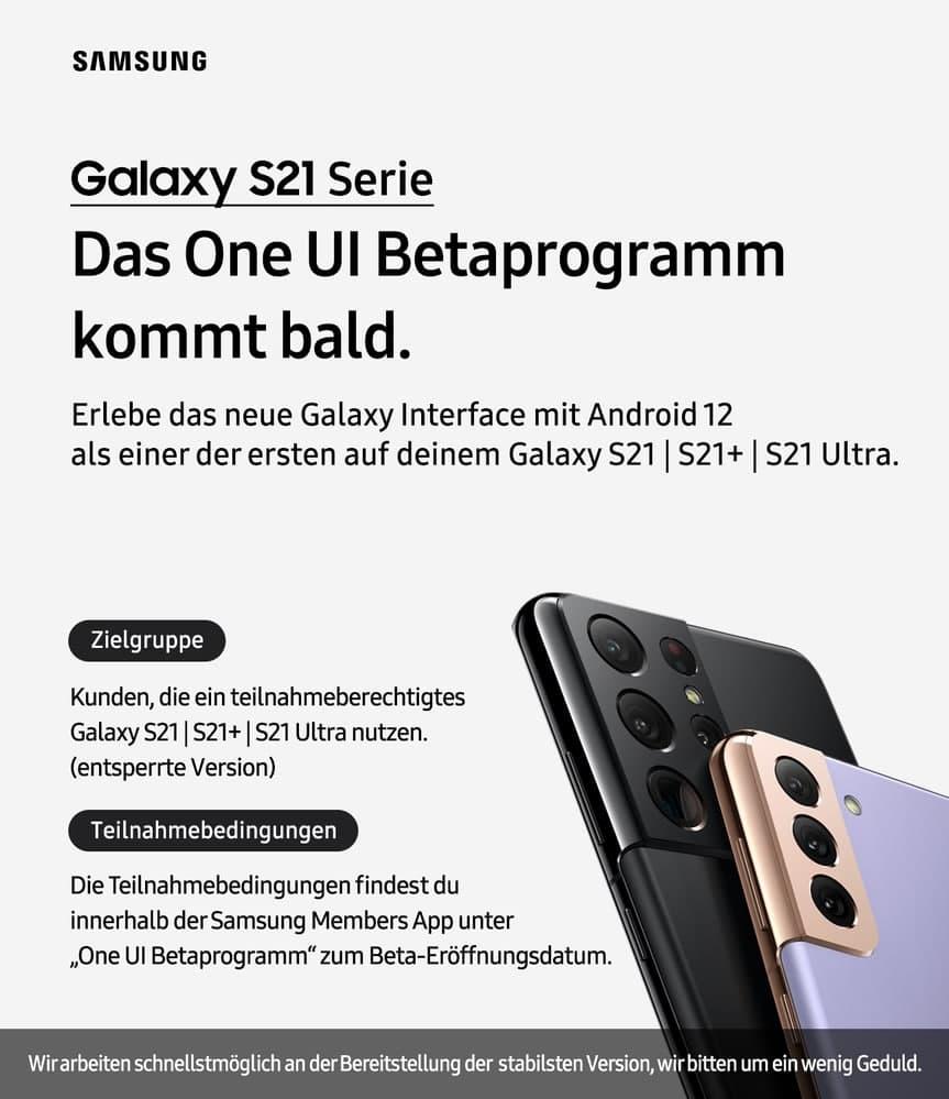 Samsung One UI 4 Beta Germany